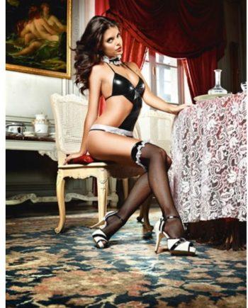 91D-208255 - SexyPlay.es  Baci medias vinyl negro red fina style 1373