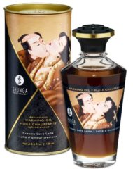 91D-213467 - SexyPlay.es  Shunga aceite masaje efecto calor sabor creamy love latte 100 ml