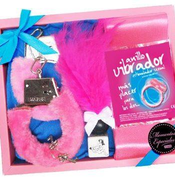 91D-210065 - SexyPlay.es  Kit erótico plumero/anillo vibrator (rosa)