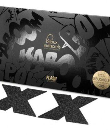 91D-197948 - SexyPlay.es  Bijoux pezoneras flash cruz negro