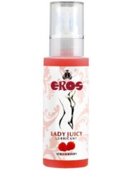 91D-211841 - SexyPlay.es  Eros lady juicy  lubricante sabor intenso fresa  125ml