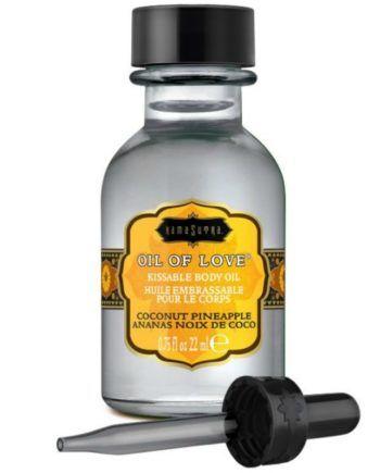 91D-215306 - SexyPlay.es  Kamasutra oil of love aceite comestible especial preliminares - coco y piña 22 ml