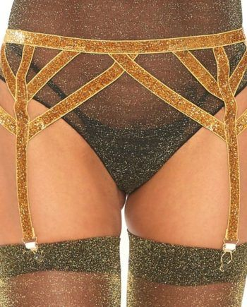 91D-218675 - SexyPlay.es  Leg avenue liguero lurex dorado talla única