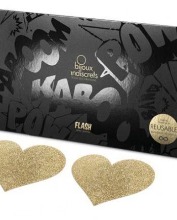 91D-197941 - SexyPlay.es  Bijoux pezoneras flash corazón oro