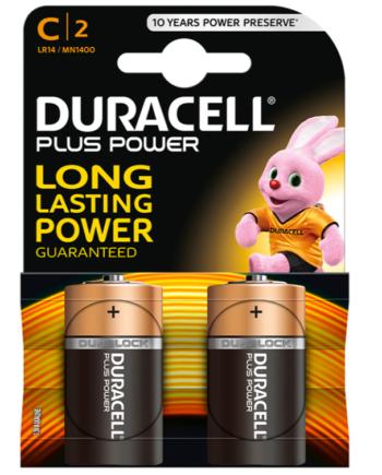 91D-219126 - SexyPlay.es  Duracell plus power pila alcalina c lr14 blister*2