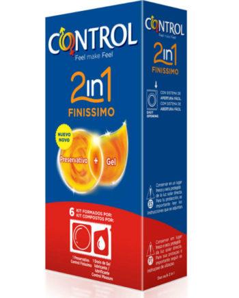 91D-211896 - SexyPlay.es  Control duo finisimo + lubricante 6 unidades