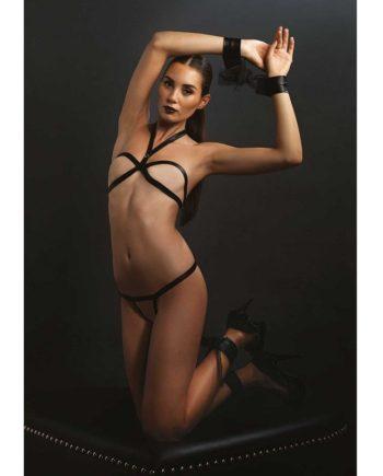 91D-207456 - SexyPlay.es  Leg avenue strappy conjunto de 4 piezas
