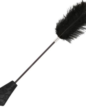 91D-221181 - SexyPlay.es  Darkness fusta con pluma love negro 56cm