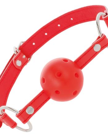91D-221194 - SexyPlay.es  Darkness mordaza transpirable rojo