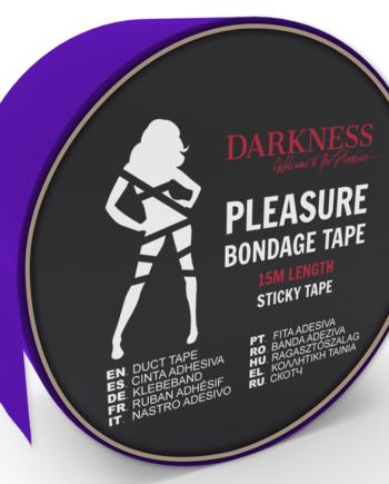 91D-221262 - SexyPlay.es  Darkness cinta para bondage lila adhesiva 15m