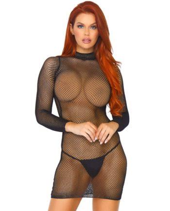 91D-220263 - SexyPlay.es  Leg avenue mini vestido cuello alto y mangas largas talla única