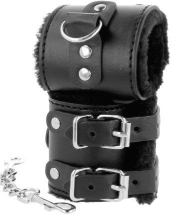 91D-221234 - SexyPlay.es  Darkness  esposas cuero con forro ajustables negro