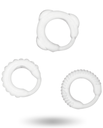 91D-222068 - SexyPlay.es  Addicted toys  set 3 anillos pene clear