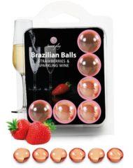 91D-222205 - SexyPlay.es  Secretplay set 6 brazilians balls fresas con cava