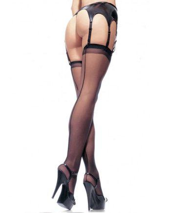 911000 BLACK - SexyPlay.es  Leg avenue medias con costura trasera negras