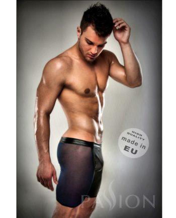 91D-203454 - SexyPlay.es  Boxer negro 026 transparente largo leather