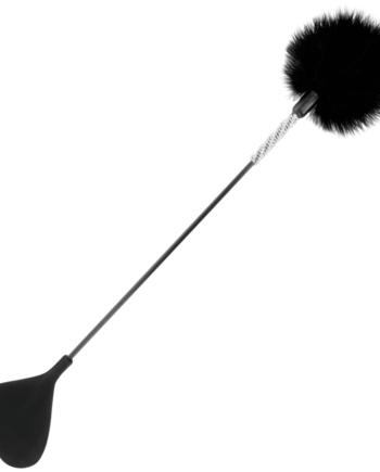 91D-221179 - SexyPlay.es  Darkness fusta con pluma love negro 50cm