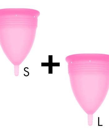 91D-222865 - SexyPlay.es  Stercup pack copa menstrual silicona fda talla s + talla l rosa