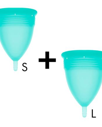 91D-222866 - SexyPlay.es  Stercup pack copa menstrual silicona fda talla s + talla l aquamarina