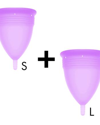 91D-222867 - SexyPlay.es  Stercup pack copa menstrual silicona fda talla s + talla l lila