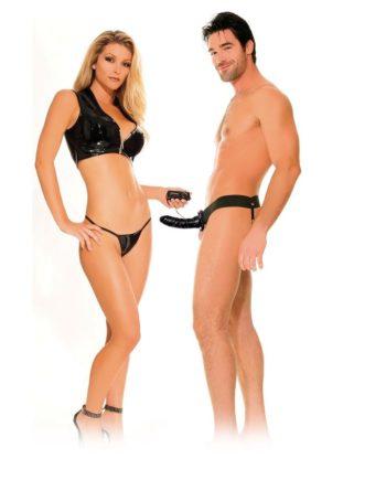 91PD3367-23 - SexyPlay.es  Fetish  arnes hueco vibrador para el y ella negro 14cm
