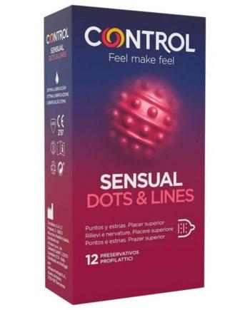 91D-223197 - SexyPlay.es  Control sensual dots & lines puntos y estrias 12 unidades