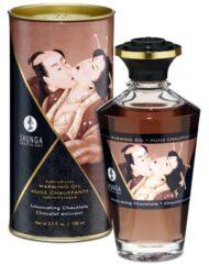91D-213465 - SexyPlay.es  Shunga aceite masaje efecto calor sabor intenso chocolate 100 ml