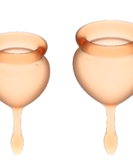 91D-223862 - SexyPlay.es  Satisfyer feel good kit copa menstrual naranja 15+20ml